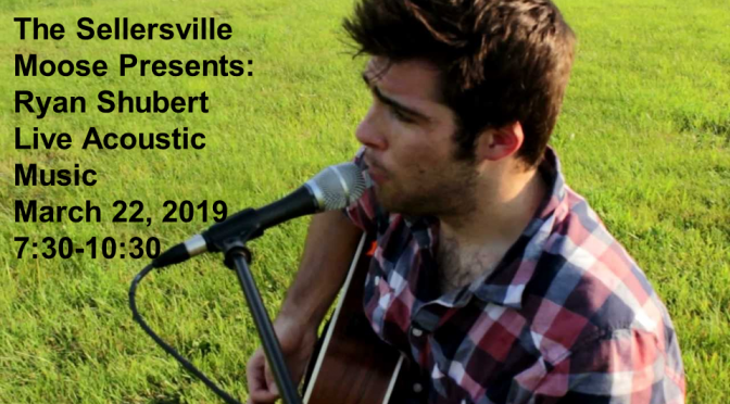 Acoustic Night March 22nd w/ Ryan Shubert
