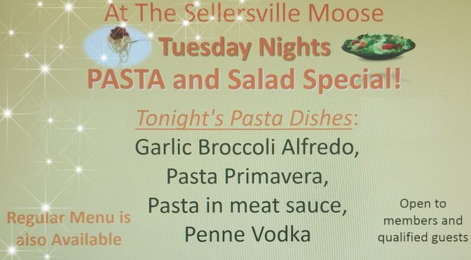 Tuesday's Pasta and Salad Night