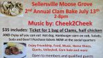 2ND Annual Clam Bake July 13th – Ticket deadline July 7th